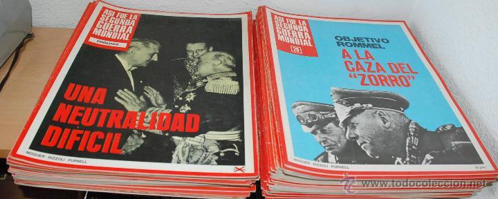 LOTE 61 FASCICULOS - ASI FUE LA II GUERRA MUNDIAL - ED.NOGUER AÑO 1972 (Militar - Revistas y Periódicos Militares)