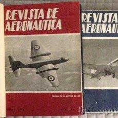 Militaria: REVISTA AERONÁUTICA. 4 TOMOS COMPLETOS 1956, 1957, 1958 Y 1959. AVIONES. MÁS DE 1.100 PÁGS. POR TOMO. Lote 53467100
