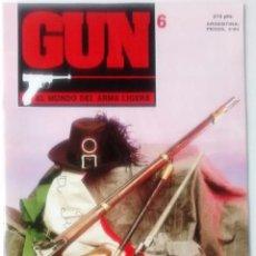 Militaria: REVISTA GUN EL MUNDO DEL ARMA LIGERA NUM 6. MUY BUEN ESTADO. Lote 53491027