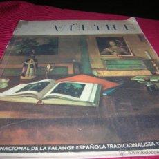 Militaria: REVISTA VÉRTICE.REVISTA NACIONAL DE LA FALANGE ESPAÑOLA AÑO 1939. Lote 54247767