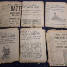 Militaria: GUERRA DE CUBA 1898 LOTE 24 PERIODICOS GRANDES TITULARES. Lote 54544719