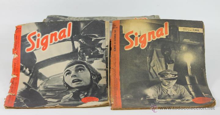 7292 - REVISTA SIGNAL. LOTE DE 64 EJEM. VV. AA(VER DESCRIP). 1941-1944. (Militar - Revistas y Periódicos Militares)