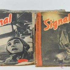 Militaria: 7292 - REVISTA SIGNAL. LOTE DE 64 EJEM. VV. AA(VER DESCRIP). 1941-1944.. Lote 55075944