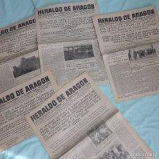Militaria: HERALDO DE ARAGON..1936..GUERRA CIVIL...LOTE DE 5 PERIODICOS..... Lote 55811180