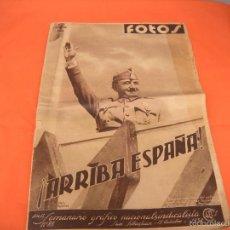 Militaria: REVISTA FOTOS Nº 85 15, OCTUBRE DE 1938. GUERRA CIVIL.. Lote 55916932