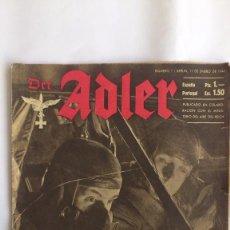 Militaria: REVISTA DER ADLER - Nº 1 -BERLIN 11 DE ENERO 1944. Lote 56325614