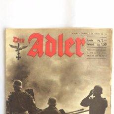 Militaria: REVISTA DER ADLER - Nº 4 -BERLIN 22 DE FEBRERO 1944. Lote 56325659