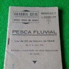 Militaria: GUARDIA CIVIL REVISTA OFICIAL DEL CUERPO SUPLEMENTO NUMERO 31 DE NOVIEMBRE DE 1946. Lote 56467339