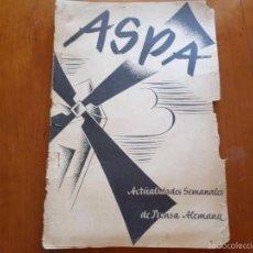 Militaria: ASPA REVISTA ESPECIAL Nº 44 29/9/1938. Lote 56592859