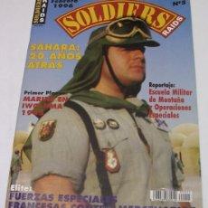 Militaria: SOLDIERS RAIDS Nº 5 - SÁHARA: 20 AÑOS ATRÁS - FUERZAS ESPECIALES FRANCESAS - 1996. Lote 58232875