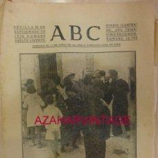 Militaria: ABC 20 DE SEPTIEMBRE DE 1936 SEVILLA,14 PAGINAS, PORTADA TEBA, MALAGA. Lote 58300855