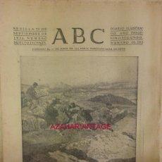 Militaria: ABC 23 DE SEPTIEMBRE DE 1936 SEVILLA,24 PAGINAS, PORTADA GUERRILLA EN LAS INMEDIACIONES DE RONDA. Lote 58301090