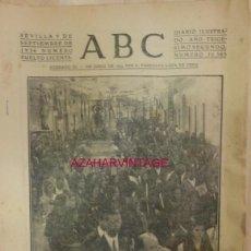 Militaria: ABC 9 DE SEPTIEMBRE DE 1936 SEVILLA,16 PAGINAS, PORTADA ESPARTINAS,TRASLADO VIRGEN DEL LORETO. Lote 58301110