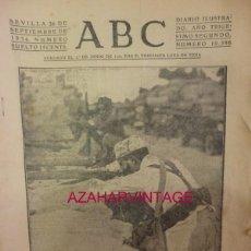 Militaria: ABC 26 DE SEPTIEMBRE DE 1936 SEVILLA,22 PAGINAS, PORTADA REGULARES DURANTE EL AVANCE HACIA RONDA. Lote 58328905