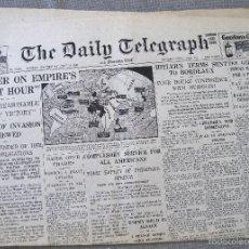 Militaria: DAILY TELEGRAPH. JUNE 19. 1940 - PRENSA SEGUNDA GUERRA MUNDIAL - EMPIRE´S FINEST HOUR. Lote 58549906