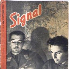 Militaria: SIGNAL. Nº 17 PRIMER NÚMERO DE SEPTIEMBRE DE 1941. EDICION EN ESPAÑOL. Lote 58629321
