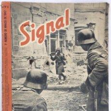 Militaria: SIGNAL. Nº 5 PRIMER NÚMERO DE MARZO DE 1942. EDICION EN ESPAÑOL.. Lote 58635536