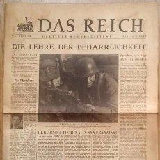 Militaria: DAS REICH - 18 DE MARZO DE 1945!!- PERIODICO DE GOEBBELS - PROPAGANDA ALEMANA. Lote 59440350