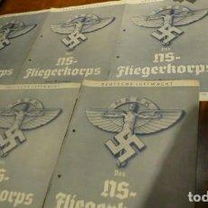 Militaria: II GUERRA MUNDIAL 1939 LOTE DE LAS 5 PRIMERAS REVISTAS ALEMANAS NS FLIEGERKORPS. Lote 62208372