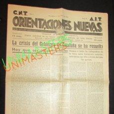 Militaria: GRANOLLERS 1937 - ORIENTACIONES NUEVAS C.N.T. - A.I.T. GUERRA CIVIL VALLES ORIENTAL. Lote 63332392