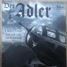 Militaria: REVISTA ALEMANA DER ADLER N° 23 DE 1939 GERMAN PROPAGANDA MAGAZINE WW2 WWII. Lote 64131051
