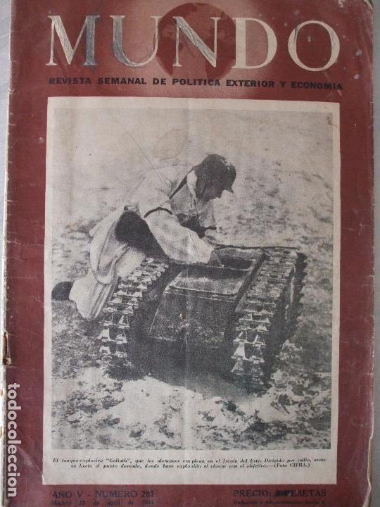REVISTA MUNDO - ABRIL 1944 (Militar - Revistas y Periódicos Militares)
