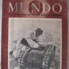 Militaria: REVISTA MUNDO - ABRIL 1944. Lote 65833046