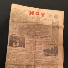Militaria: HOY BADAJOZ 2 AGOSTO 1941 Nº 2762 NARCISO CAMPILLO BALBOA GUERRA CIVIL EXTREMADURA. Lote 66328154
