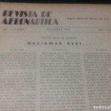 Militaria: REVISTA DE AERONÁUTICA , 4 TOMOS AÑOS 1941 Y 1942. Lote 68798601