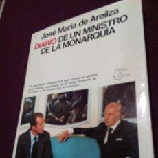 Militaria: DIARIO DE UN MINISTRO DE LA MONARQUIA. Lote 69713701