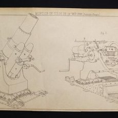 Militaria: LÁMINA ORIGINAL DE LA REVISTA 'REVUE D'ARTILLERIE', 1905 MORTERO DE ASEDIO 24º MOD 1898 ( AUSTRIA- H. Lote 70349426