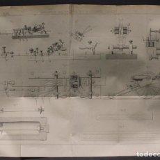 Militaria: LÁMINA ORIGINAL DE LA REVISTA 'REVUE D'ARTILLERIE', 1905 DISPOSITIVOS BALÍSTICOS DEL CORONEL SEBERT.. Lote 70349518