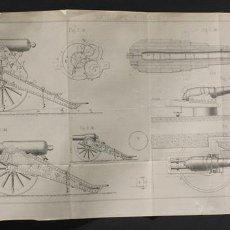 Militaria: LÁMINA ORIGINAL DE LA REVISTA 'REVUE D'ARTILLERIE', 1905 ARTILLERÍA INGLESA. Lote 70349538