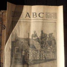 Militaria: ABC 21 DE AGOSTO DE 1936 SEVILLA,16 PAGINAS, PORTADA TANQUE INCAUTADO EN AZNALCOLLAR. Lote 71535879