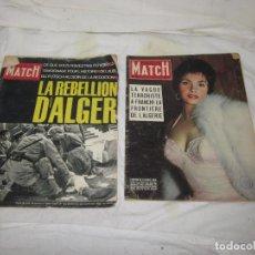 Militaria: LOTE 2 REVISTA PARIS MATCH DE GUERRA DE ARGELIA - FRANCIA. 1954 Y 1961, REVISTAS ESPECIALES. . Lote 74958031