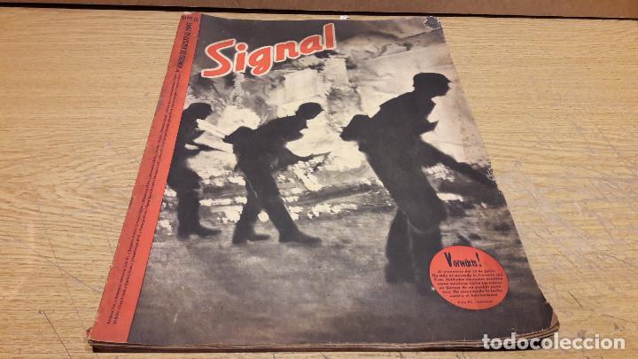 SIGNAL. 1ER NUM AGOSTO DE 1941. VORWÄRTS. CON DESGASTE DE LA ÉPOCA. (Militar - Revistas y Periódicos Militares)