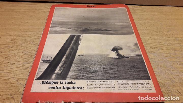 Militaria: SIGNAL. 1ER NUM AGOSTO DE 1941. VORWÄRTS. CON DESGASTE DE LA ÉPOCA. - Foto 11 - 75147863