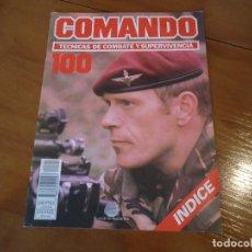 Militaria: INDICE REVISTA COMANDO TECNICAS DE COMBATE Y SUPERVIVENCIA Nº 100. Lote 294484718