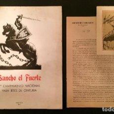 Militaria: CAMPAMENTO SANCHO EL FUERTE PRIMER CAMPAMENTO NACIONAL PARA JEFES DE CENTURIA NAVARRA. Lote 76673551