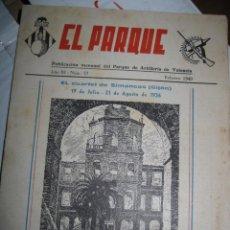 Militaria: EL CUARTEL SIMANCAS GIJON EL PARQUE ARTILLERIA VALENCIA REVISTA MILITAR 1942 MURCIA. Lote 32437699