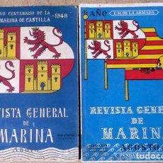 Militaria: 2 REVISTA GENERAL DE MARINA REVISTA GENERAL DE MARINA 1948 Y 1952 . Lote 81217484
