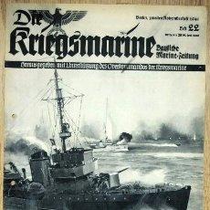Militaria: REVISTA ALEMANA - DIE KRIEGSMARINE Nº 22 1941 GERMAN MAGAZINE WWII WW2 PROPAGANDA. Lote 81277196