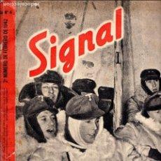 Militaria: REVISTA SIGNAL Nº4 1942 - BERLIN - WWII. Lote 81580404