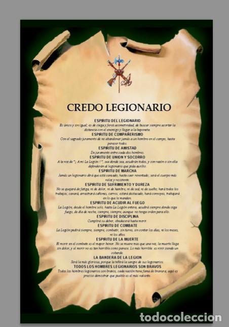 AZULEJO 20X30 DEL CREDO LEGIONARIO (Militar - Revistas y Periódicos Militares)