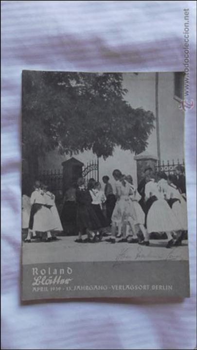 Militaria: LOTE TRES REVISTAS ROLAND DEDICADAS A LA MUJER DURANTE EL TERCER REICH. ORIGINAL DE ÉPOCA.1938/39 - Foto 3 - 177088975