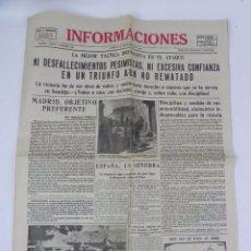 Militaria: ANTIGUO PERIODICO PLENA GUERRA CIVIL, INFORMACIONES, 25 DE SEPTIEMBRE DE 1936 - NI DESFALLECIMIENTOS. Lote 84704588