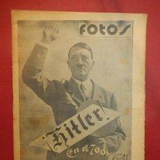 Militaria: SEMANARIO GRÁFICO FOTOS. Nº 24, 1937. GUERRA CIVIL.. Lote 84891972