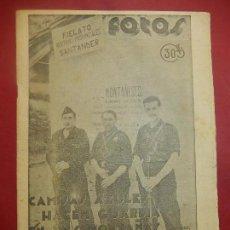 Militaria: SEMANARIO GRÁFICO FOTOS. Nº 20, 1937. GUERRA CIVIL.. Lote 84892932