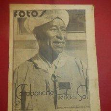 Militaria: SEMANARIO GRÁFICO FOTOS. Nº 54, 1938. GUERRA CIVIL.. Lote 84893692