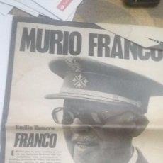 Militaria: PERIODICO DEL DIA LA MUERTE DE FRANCO. Lote 85211316